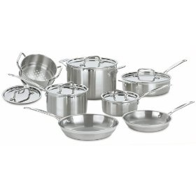 cuisnart multiclad  pro stainless steel cookware