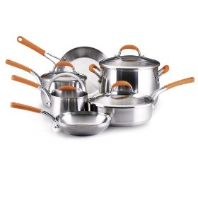rachael ray stainless steel cookware set