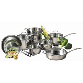 calphalon tri ply stainless cookware set